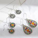Vintage Bohemian Boho Ethnic Dangle Drop Antique Hanging Earrings