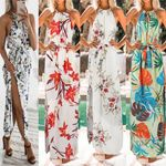 Fashion Print Boho Floral Long Maxi Sleeveless Evening Party