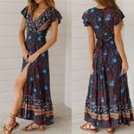 Boho Floral Long Maxi  Casual Sundress Evening Party Clothes Flower Dress
