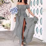 Bohemian Celmia Ruffle Long Maxi Dress