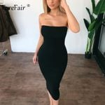 Sexy Long Club Off Shoulder Strapless Bodycon Dress