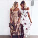 Boho style long Off shoulder beach dresses