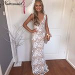 Backless Long Maxi Evening Party White Dress