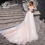Fairy Appliques A-Line Wedding Sweetheart Off Shoulder Long