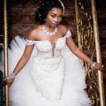 Amazing Neck Ruffles Mermaid Wedding Dress