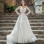 Vestido De Noiva A Line Long Sleeves Wedding Dresses