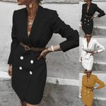 Fashion Office blazer Long Sleeve Casual Loose Comfort Solid  Dress