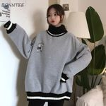 Hoodies Thicker Plus Velvet Solid Striped Printed Oversize Loose