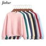 Cute Hoodies Pullover colors Coat Loose Fleece Thick Knit Sweatshirt