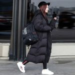 Parka Coat Extra Maxi Long Jacket Cotton Hood