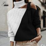 Gold Hands turtleneck sweater street Elasticity Knitwear casual