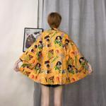 Yellow Traditional japanese kimonos cardigan