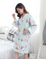 Japanese Kimono Pajamas  Cotton Long-sleeved Air Layer Thick