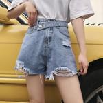 Casual Denim Cool High Waists Mini Shorts