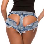 waist sexy hole nightclub Denim Hot Sexy Mini Short J