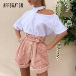 Casual pink shorts Elegant Hollow out spring shorts Vintage party