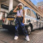 Print Casual Pants Fashion Streetwear Harem Pants High Waist
