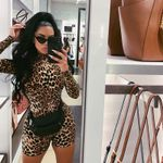 New High Street Long Sleeve Leopard Print Bodysuit