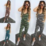 New Sleeveless Camouflage Jumpsuit Rompers