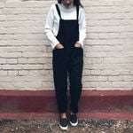 dungarees Oversize Rompers Jumpsuit Strap Solid