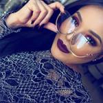 Cat Eye Transparent Fashion Brand Designer Sunglasses