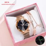 New Watches Bracelet Set Starry Sky Luminous Watch Fashion