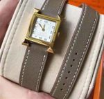 Fashion double layer genuine leather luxury brand watch