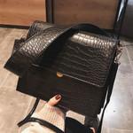 Fashion Crocodile Shouder Bags Designer Brand Wide Strap Handbags Luxury