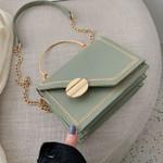 green PU Leather chain design Crossbody Bags