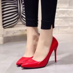 Hot Shoes Pointed Toe Pumps Patent Leather Dress High Heels