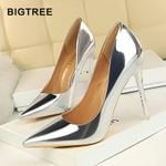 New Pumps Patent Leather High Heels Shoes