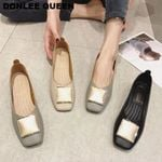 Brand Ballet New Ballerina Square Toe Shallow Buckle Flat Shoes