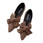 Luxury Flat Cover Heel Shallow Bow Flats Shoes Candy Color Slip On