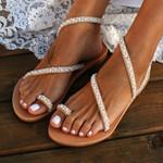 shoes  beach flats sandals gladiator rhinestone pearls open toe