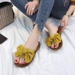 Hot Sale Flip Flops Fashion Solid Color Bow tie Flat Heel Sandals