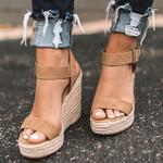 New Sandals Open Toe Platform Wedges Sandals Comfort Fish