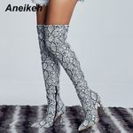 Thigh High Sexy Over the Knee Boots  Shoes Snakeskin Pointed