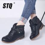 Shoes Genuine Leather Lace Up Platform Boots