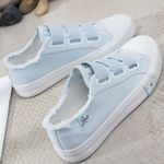 Sneakers Canvas shoes fashion Solid Superstar Hook Loop
