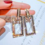 fashion exaggerated geometric rectangular accessories earrings