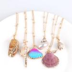 Hot Boho Conch Shell Sea Beach Shell Pendant Necklace