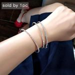 Trendy  Colors Full Rhinestone Thin Open Adjustable Bangle Bracelets