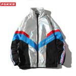 New Fashion Trend Brand Patchwork Wild Jacket Streetwear