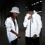 New full reflective jacket windbreaker hooded hip-hop streetwear