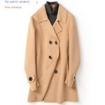 Wool Double Breasted Long Spring Fall Coats and Jackets