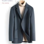 Wool Coat Casual Double-sided Wool Jacket Blazer Slim Fit