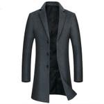 Warm wool Long Warm black mall coat Elegant
