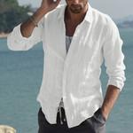 Plus Size Shirt Long Sleeve Streetwear Shirt White