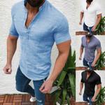 Casual Blouse Cotton Linen shirt Loose Tops Fashion