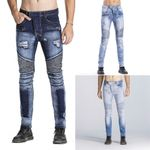 High-quality Fashion Distressed Ripped Skinny Jeans Slim Fit